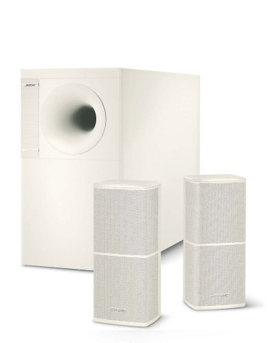 Bose AM5 Series Bi-Amplified Acoustimass Satellite/Bass 2.0 Speaker System, Auto On/Off, Active Equalization, White