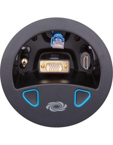 Crestron TT100BT Connect It™ Cable Caddy w/120V, No Cables, Black