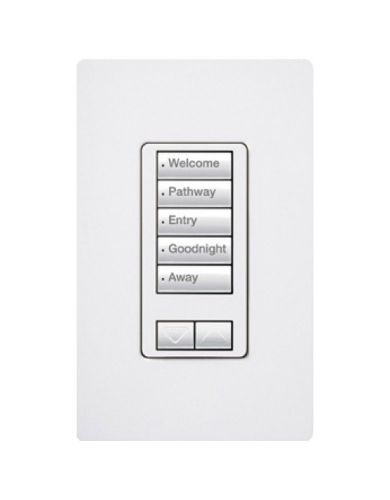 Lutron 5-button keypad with raise/lower