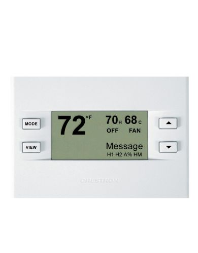 Crestron CHV-TSTATA  Heating and Cooling Thermostat, Almond Faceplate