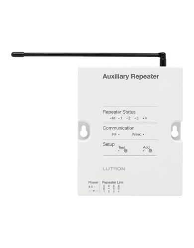 Lutron Auxiliary repeater RF range of 30 ft