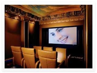 One of the home theaters we installed in Houston, TX